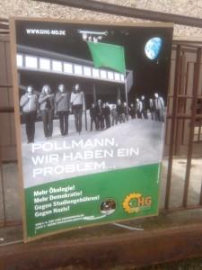 Wahlkampfplakat der GHG MD zur Gremienwahl 2009