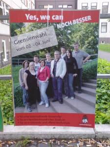 Gremienwahlkamps 2009 Juso HSG (Anklicken für größere Ansicht)