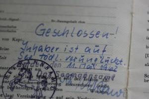 Seefahrtsbuch (geschlossen) von Claus-Dieter Dittmer (Anklicken für größere Ansicht)