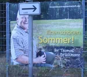 Wahlplakat Thomas Brückmann.