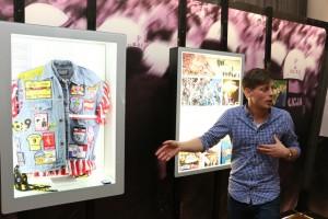 Jan Christoph Greim führte durch die Ausstellung.